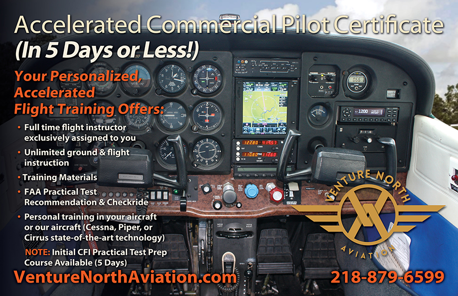 Venture North Aviation 5 Day Accelerated Commercial Pilot Course